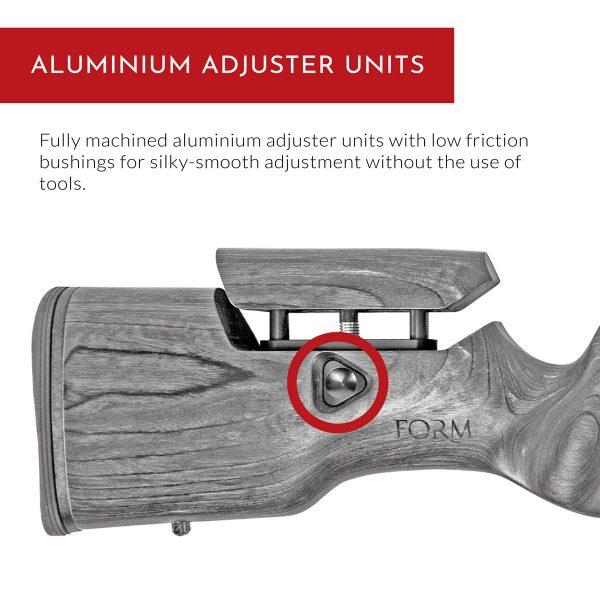 Carro Rifle Stock - Aluminium Adjuster Units