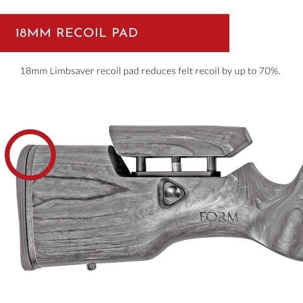Carro Rifle Stock - 18mm Recoil Pad