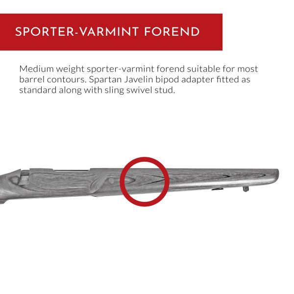 Carro Rifle Stock - Sporter-Varmint Forend