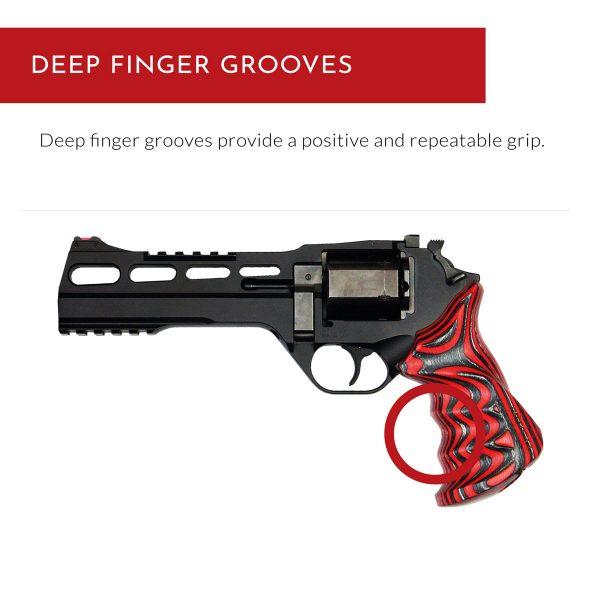 Chiappa Rhino Grips STD - Deep finger grooves