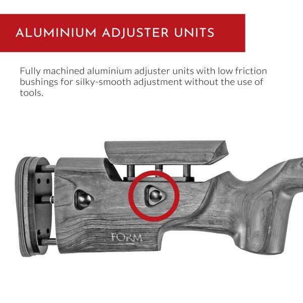 Crusader Rifle Stock - Aluminium Adjuster Units