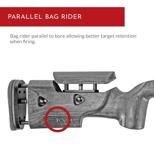 Crusader Rifle Stock - Parallel Bag Rider